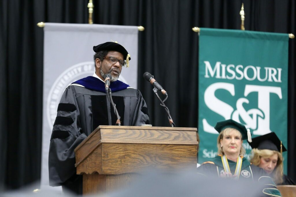 Harvest Collier speaks at commencement