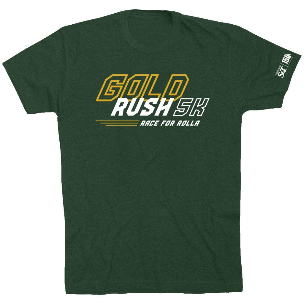 Gold Rush 5K tshirt