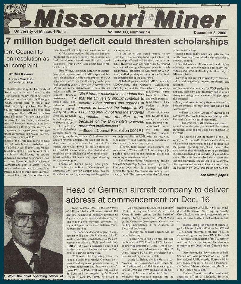 Missouri Miner Newspaper Archive